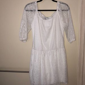 Delia's white lace boho dress